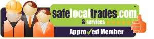 Approved and recommended by Safe Local Trades and Services logo