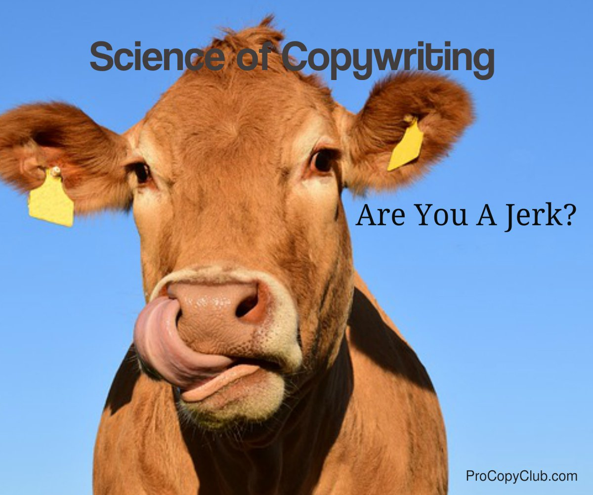 Science of Copywriting - Are You A Jerk?